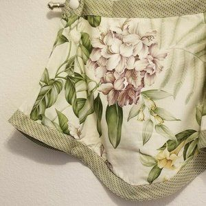 Waverly Scalloped Valance Tropical Orchid Peonies